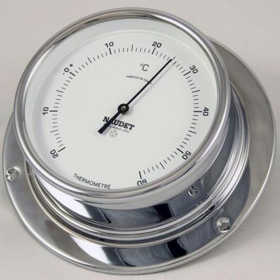 Thermomètre chromé 100 mm