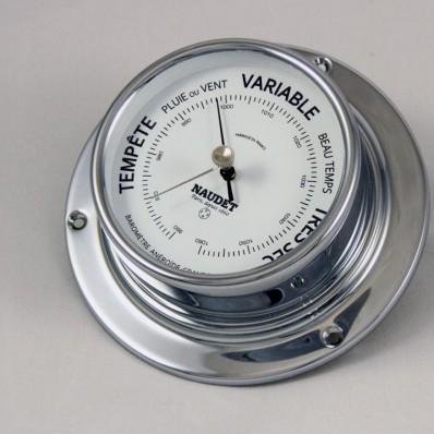 Baromètre à aiguilles boitier chromé