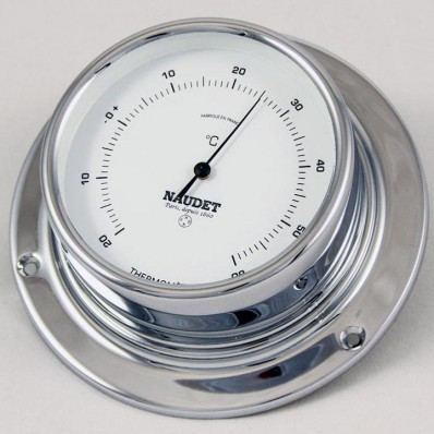 Thermomètre chromé 80 mm