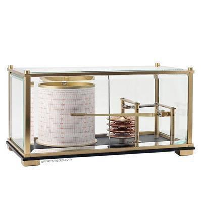 Baromètre enregistreur Grand Modèle en laiton