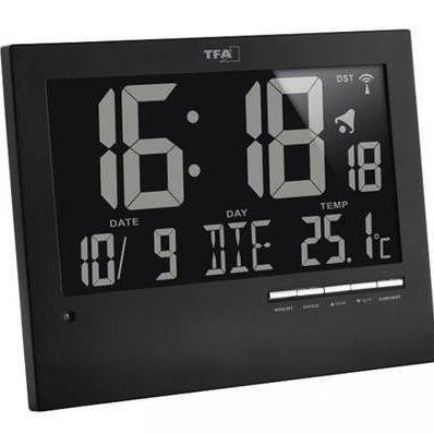 Horloge avec éclairage de fond automatique