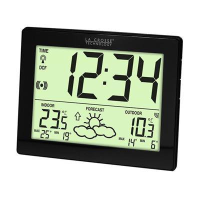 Horloge avec icône de prévision météo