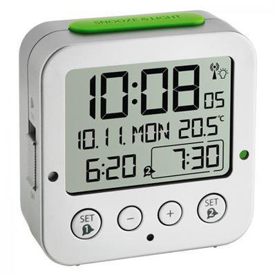Réveil radio piloté avec écran LCD