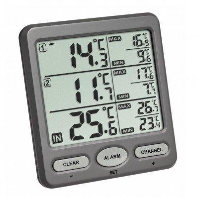 Thermomètre avec deux émetteurs