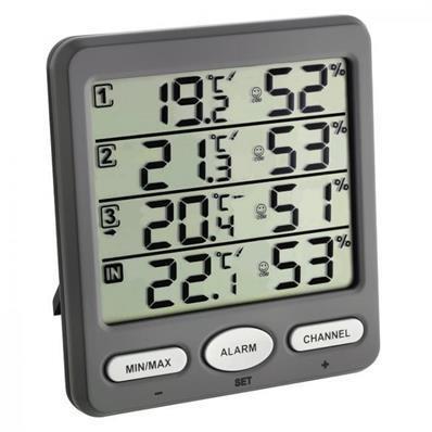 Thermo-hygromètre sur 4 lignes