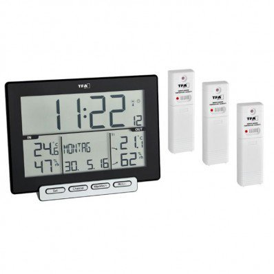 Thermo-hygromètre avec grande horloge